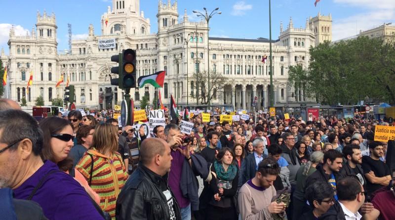 Inicio de la marcha en plaza Cibeles