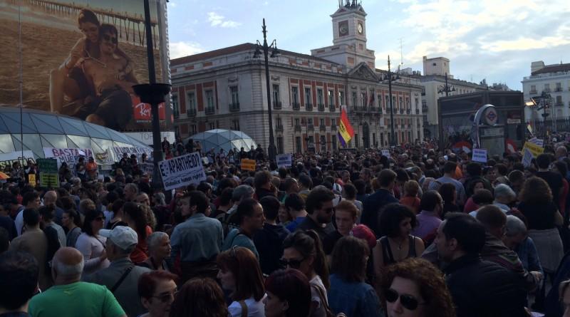 Fin de la marcha en Puerta del Sol