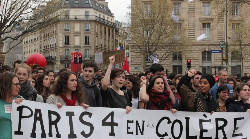 14 de Abril: estudiantes llegan a Nuit Debout